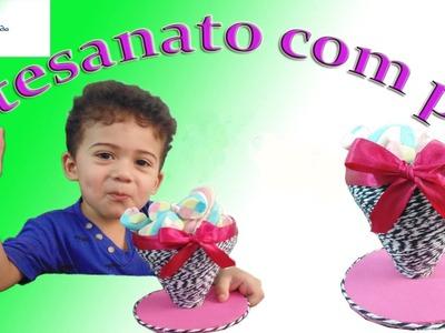 Artesanato com Garrafa Pet Taça pra  Centro de Mesa