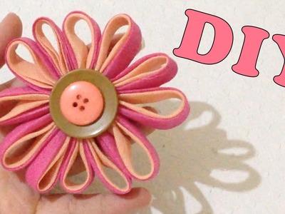 Como Fazer Flor de Viés Passo a Passo - Artesanato DIY