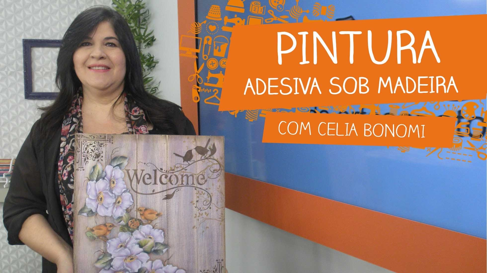 Pintura Adesiva sob Madeira com Celia Bonomi | Vitrine do Artesanato na TV
