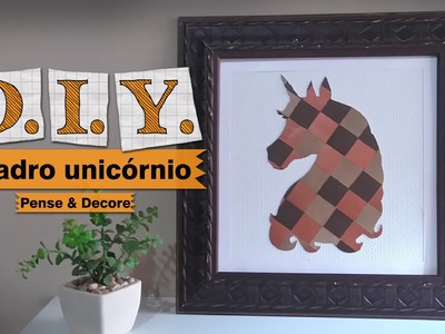 DIY - Aprenda a fazer um lindo quadro decorativo (Quadro Decorativo Unicórnio)