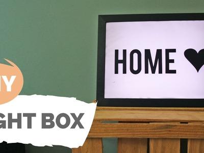 DIY | Caixa luminosa personalizável | Por GavetaMix