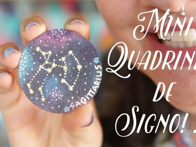 DIY • Como Fazer Mini Quadrinho Sagittarius ♥