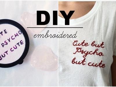 DIY bastidor feito com pote e bordado simples |  Pinterest Inspired