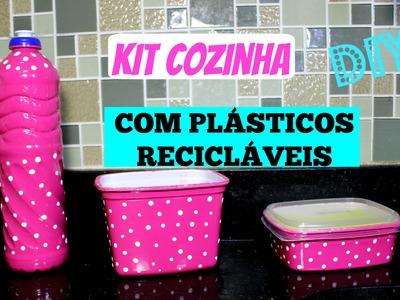 DIY.COMO FAZER KIT COZINHA COM PLÁSTICOS RECICLÁVEIS