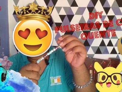 DIY :: Fazendo Pulseiras com Cola Quente