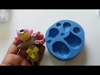 DIY- Fran aulas - ponteira corujinha - molde
