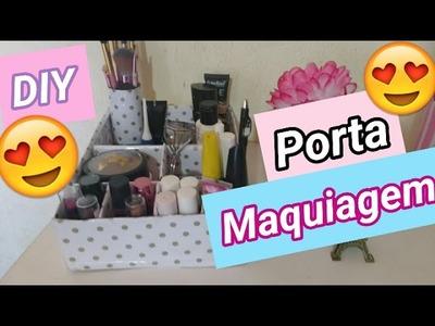 DIY : Porta maquiagem Fácil!!