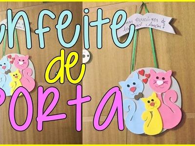 Enfeite de porta Gatinhos (DIY em E.V.A)