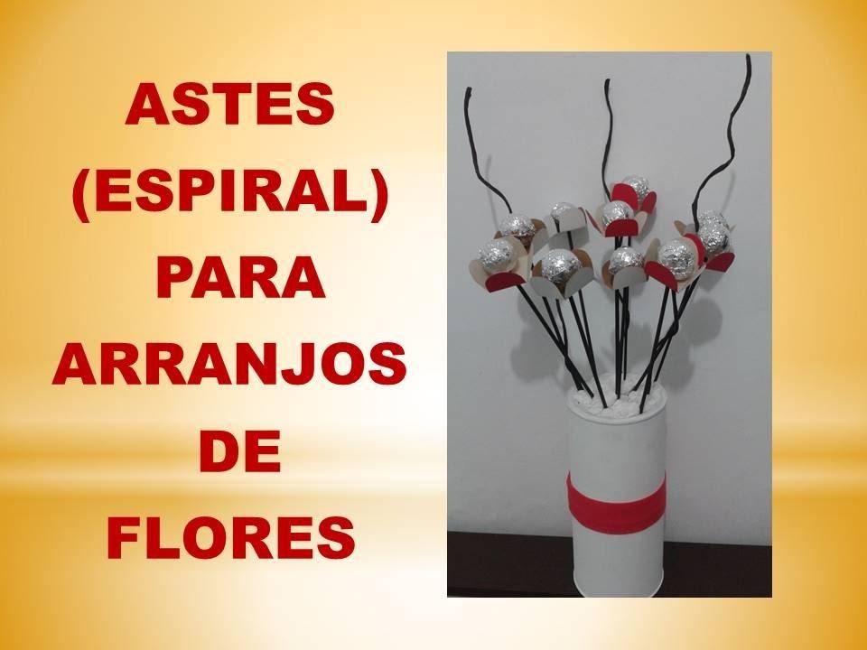 DIY - Astes (Espiral) para Arranjo de Flores