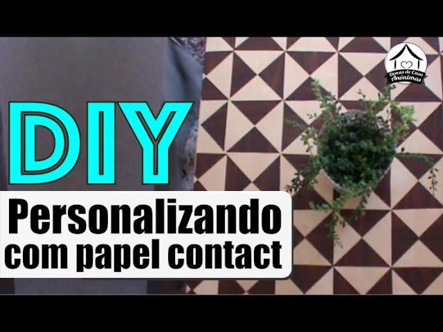 DIY: papel contact + mesa sem graça