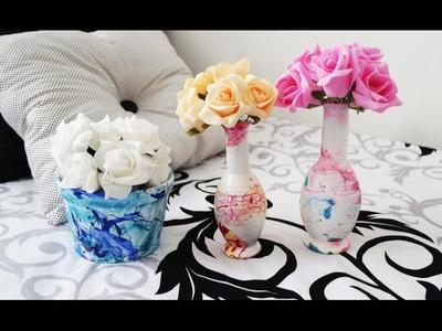 DIY: Vasos Decorados Com Esmalte