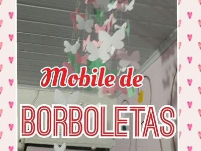 Mobile de borboletas   Universo-DIY   Faça você mesmo