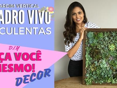 QUADRO DE SUCULENTAS - FAÇA VOCÊ MESMO DECOR - DIY #1