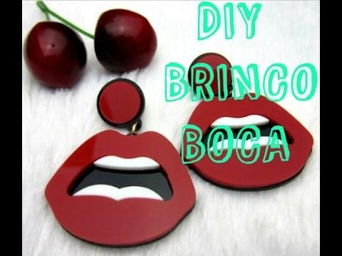 DIY: BRINCO BOCA | FAÇA VC MESMO BRINCO DE E.V.A BOCA