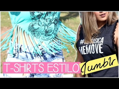DIY - Camisetas estilo Tumblr (Tumblr Inspired T-Shirts) ♡