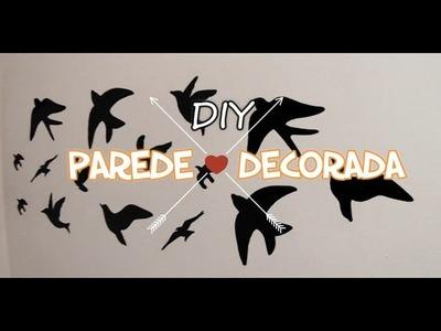 DIY - COMO DECORAR A PAREDE COM PAPEL CONTACT (CENÁRIO)