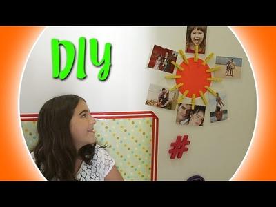 DIY porta-retrato de parede com pregador de roupa - VEDA #29 - Dora Dorinha