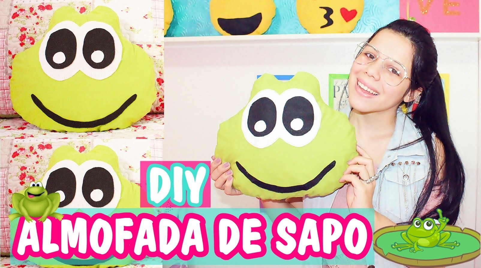 DIY: ALMOFADA DE SAPO - Faça Você Mesma