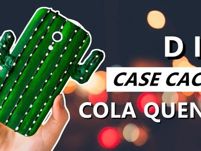 DIY Capinha de COLA QUENTE Cacto - Phone Case - Como fazer