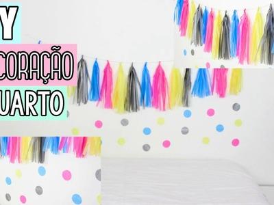 DIY - DECORAÇÃO PARA QUARTO GASTANDO POUCO