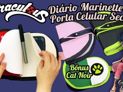DIY Miraculous Ladybug: Porta Celular Secreto + Diário da Marinette e Cat Noir (Como Fazer)