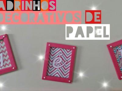 DIY: Quadrinhos decorativos feitos de papel|#GéhDecora