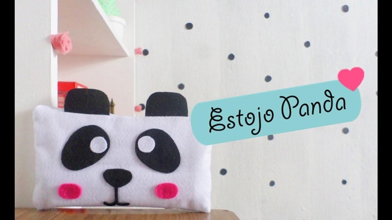 Como Fazer Estojo de Panda