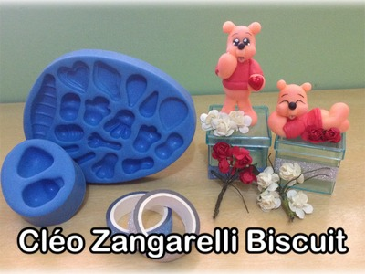 DIY BISCUIT - URSO POOH NO MOLDE MINI PET P!!!
