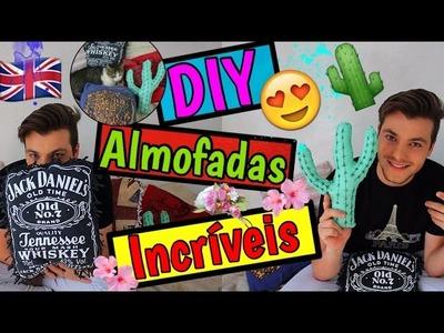 DIY - Como Fazer ALMOFADAS INCRÍVEIS Usando Camisetas Velhas - Eduardo Wizard