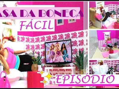 DIY: COMO FAZER CASA DA BONECA NO CADERNO - EPISÓDIO 01: SALA DE TV | IDEIAS DIY!
