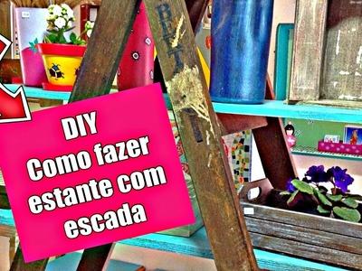 DIY | Como fazer uma  linda estante com escada