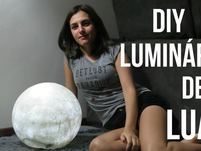 DIY - Luminária de Lua cheia - por Diane Silva