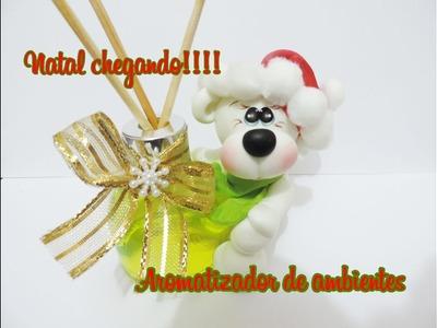 DIY- Mini aromatizador de Natal- Ursinho polar.