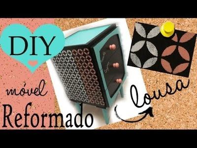 DIY: REFORMA DE MÓVEL, efeito giz e efeito lousa | por Camila Camargo