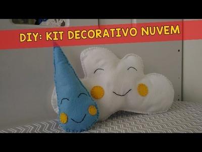 Especial dia das Crianças: DIY: Kit decorativo nuvem em feltro