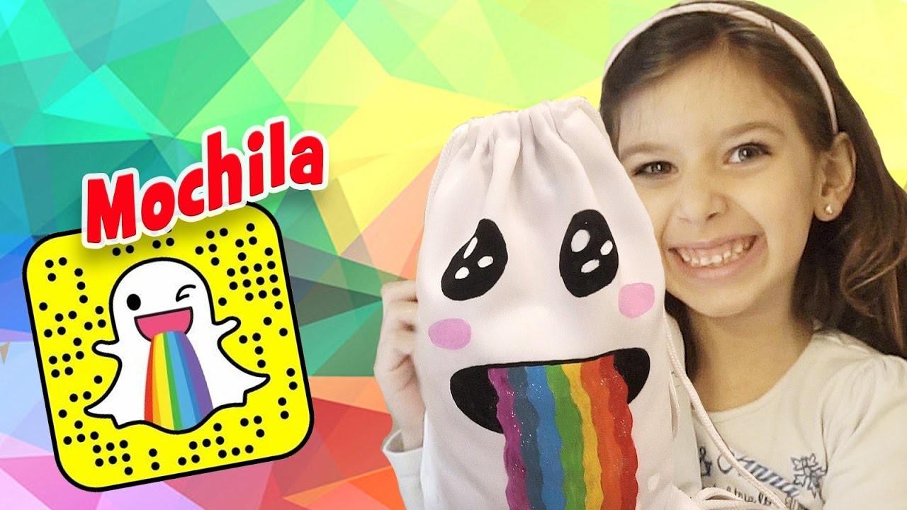 Mochila Snapchat. Como Fazer. DIY com Sarinha