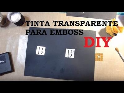 """""""Tinta transparente"""" (fake) para Emboss, como fazer? - DIY - Estúdio Brigit"""