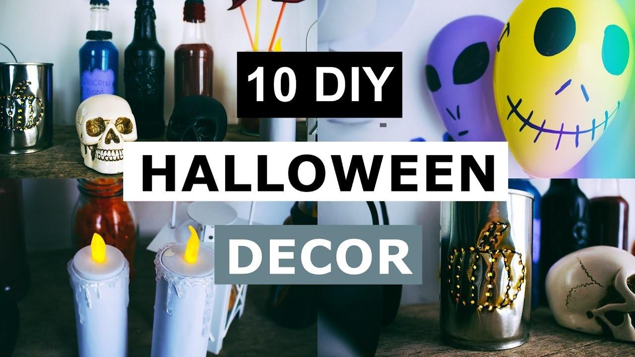 10 DIY Halloween Decor - Decoração de casa e festa Dia das Bruxas | Home decor.