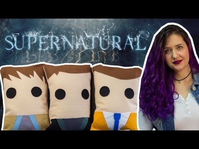 Almofadas Supernatural: Sam, Dean e Castiel - DIY Geek