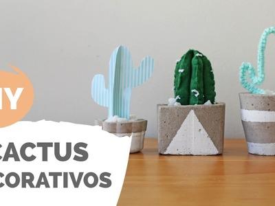 DIY | 3 cactus pra usar na decoração | Por GavetaMix