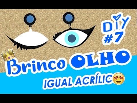 DIY Brinco de OLHO = de Acrílico Funny earrings DIY brincos TIPO brinco de pompom e brinco de boca