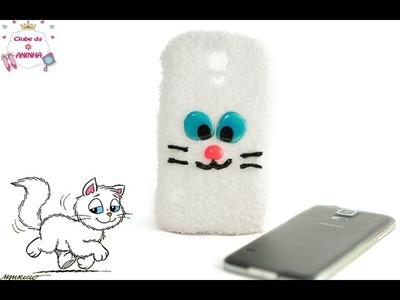 DIY Como fazer uma capa para celular fofinha do Mingau - Turma da Mônica no Clube da Aninha