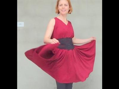 DIY - Como fazer vestido Godê sem Costura