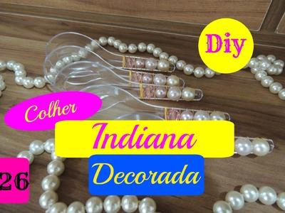 DIY. Faça você mesmo - Colher Indiana Decorada #setembrotododia #26 - Taisa Alves