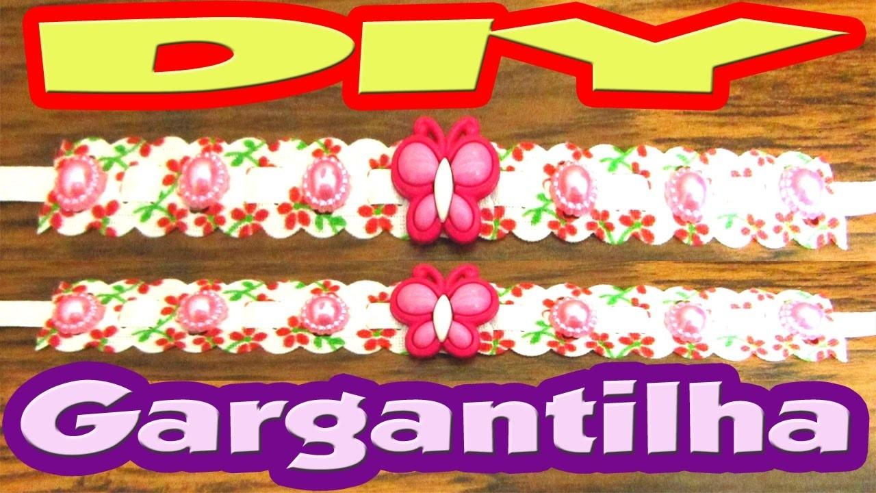 DIY Gargantilha p. fêmeas , super fácil de fazer !!