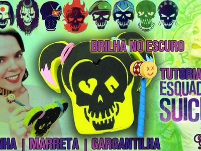 DIY Kit Esquadrão Suicida: Como fazer Capinha + Marreta touch + Gargantilha da Arlequina