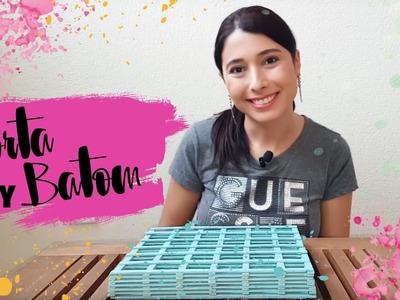 DIY: Porta batom com palito de sorvete | por Mari Dahrug