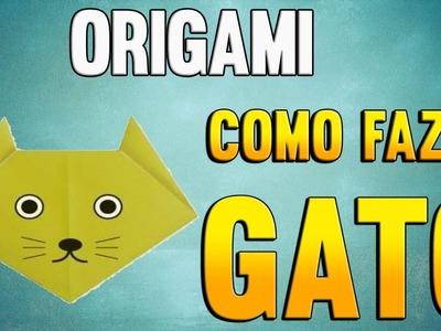 Como Fazer uma Cabeça de GATO de Origami - Passo a Passo - Paper Folding CAT