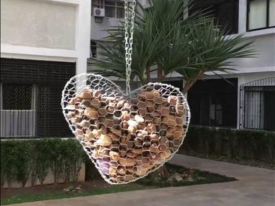Coração de arame e pedras para jardim! #DIY 17