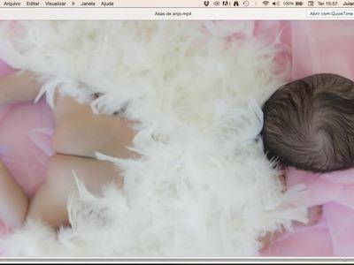 DIY Asas de anjo para newborn  ✂️ Artesanato #NãoéCópia mas #PodeCopiar